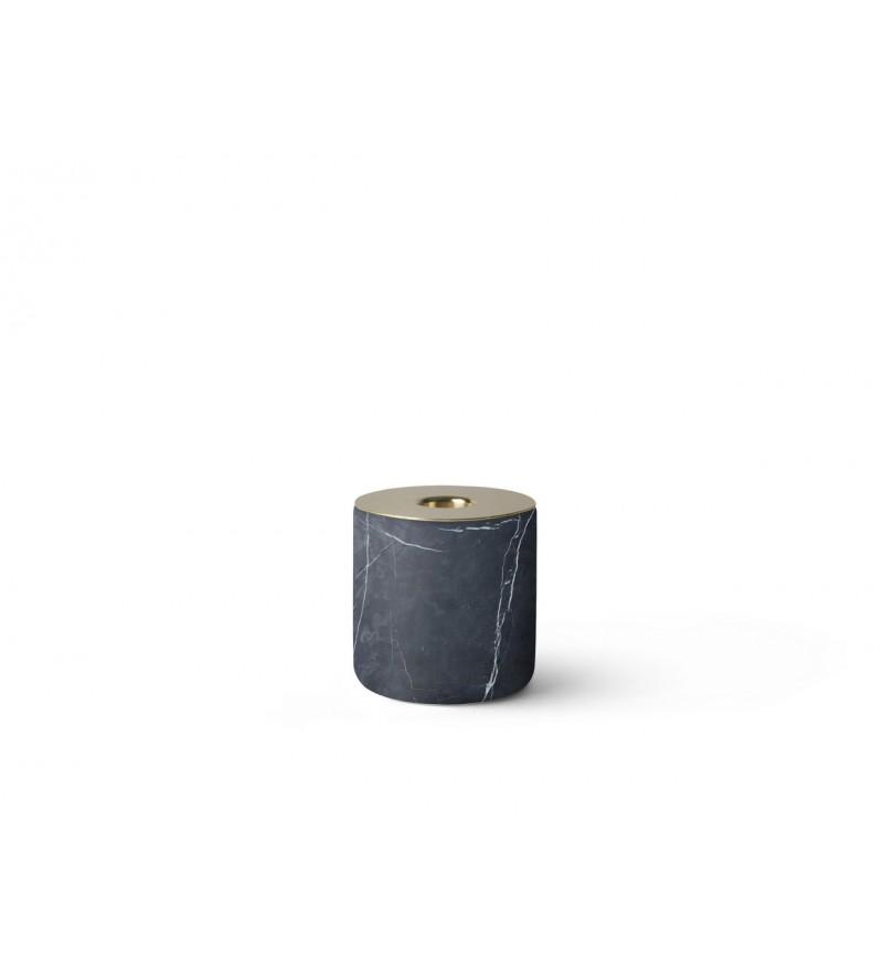 Świecznik Chunk Menu - czarny marmur, rozmiar L