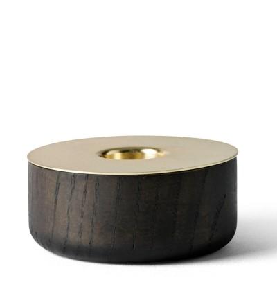 Świecznik Chunk Menu - drewniany, rozmiar S