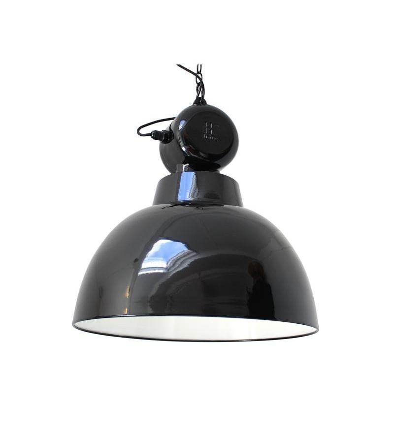 Emaliowana lampa warsztatowa Factory L HK Living - czarna