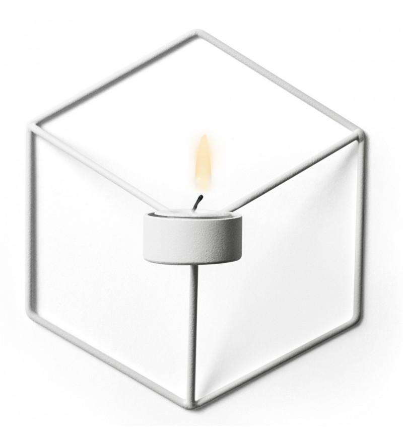 Świecznik ścienny POV Menu - biały