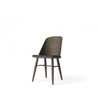 Krzesło tapicerowane Synnes Dining Chair Menu - ciemny jesion, Dakar
