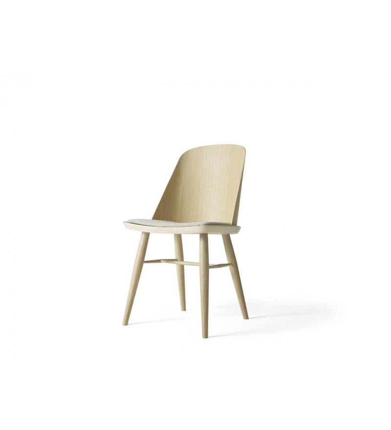 Krzesło tapicerowane Synnes Dining Chair Menu - dąb, Basel