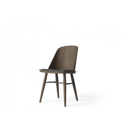 Krzesło tapicerowane Synnes Dining Chair Menu - ciemny jesion, Basel