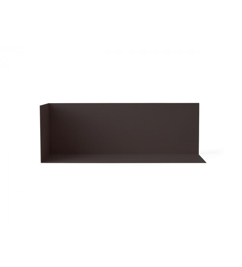 Półka narożna Corner Shelf Menu - czarna, rozmiar L
