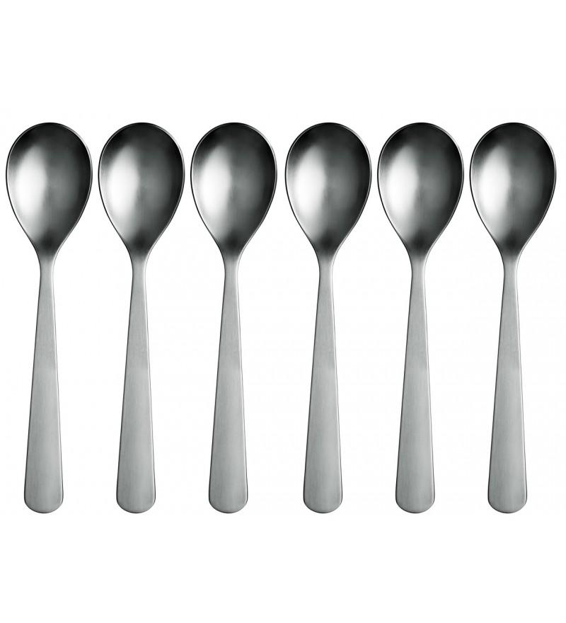 Zestaw łyżek stołowych Spoons Normann Copenhagen - stalowy, 6 szt.