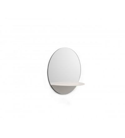 Lustro Horizon Normann Copenhagen - okrągłe, białe