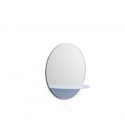 Lustro Horizon Normann Copenhagen - okrągłe, jasnoniebieskie