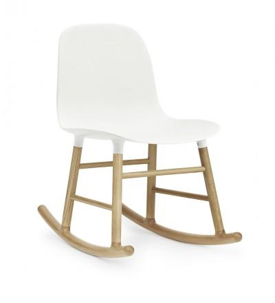 Krzesło bujane na dębowych płozach FORM ROCKING CHAIR Normann Copenhagen - różne kolory