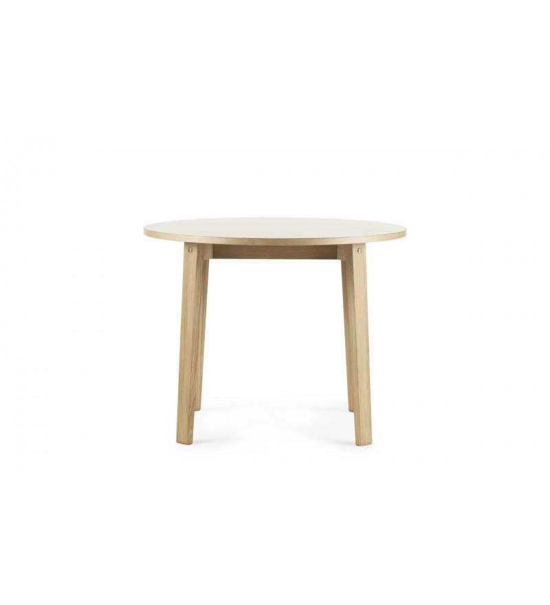 Stół SLICE TABLE LINOLEUM  Ø95 cm Normann Copenhagen - dąb, różne kolory