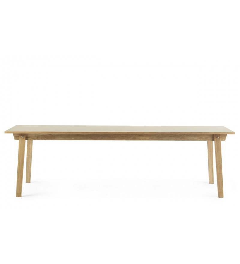 Stół SLICE TABLE LINOLEUM 90 x 250 cm Normann Copenhagen - dąb, różne kolory