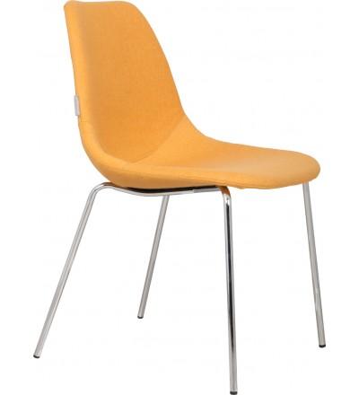 Zuiver krzesło Fifteen Chrome yellow