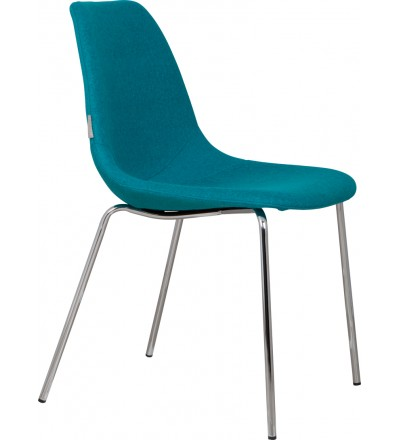 Zuiver krzesło Fifteen Chrome blue