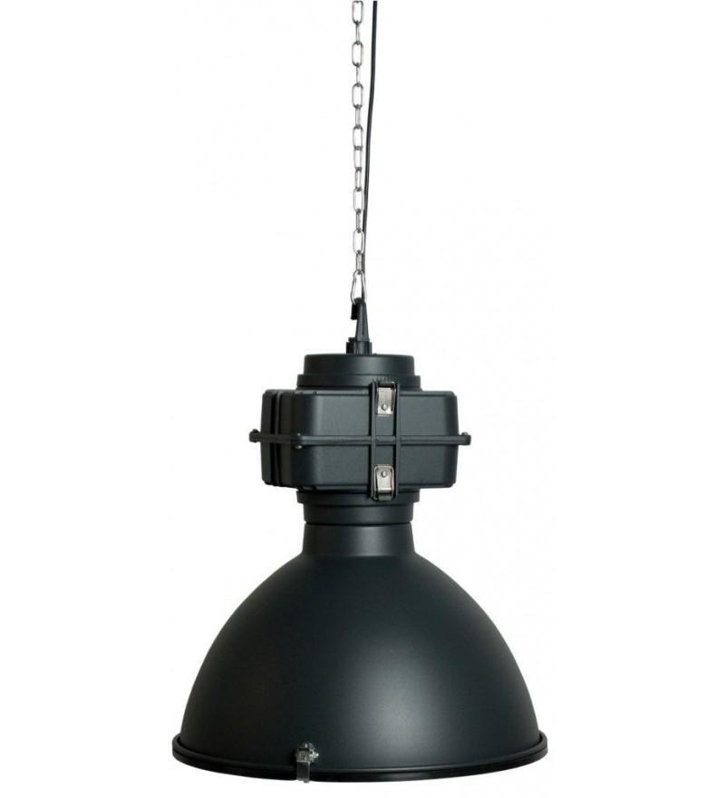 Industrialna fabryczna lampa wisząca Vic Zuiver - czarna matowa
