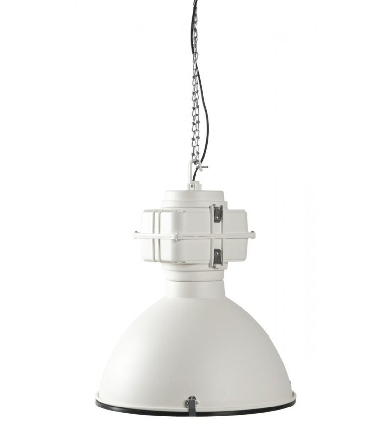 Industrialna fabryczna lampa wisząca Vic Zuiver - biała matowa