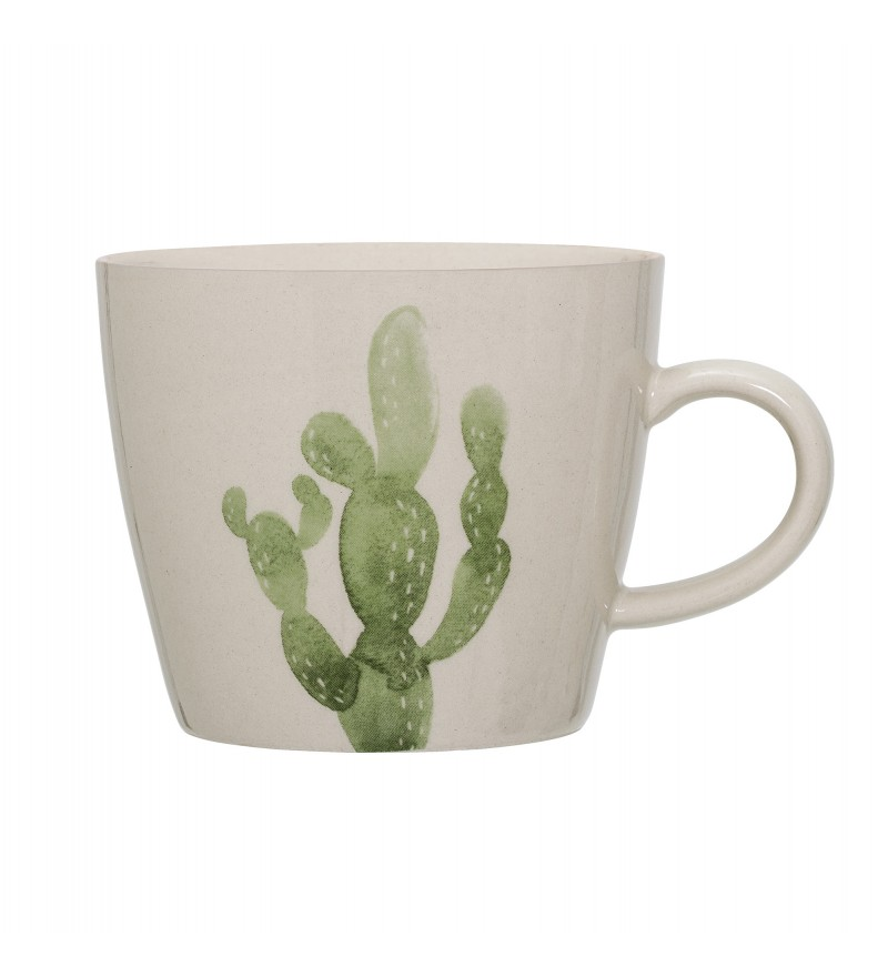 Kubek z nadrukiem 'Zielony Kaktus' Bloomingville