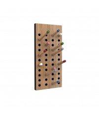 Wieszak na ubrania Scoreboard small We Do Wood - bambus moso, kolorowe końcówki