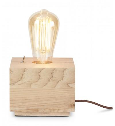 Lampka stołowa kwadratowa Kobe It's About RoMi - naturalne drewno