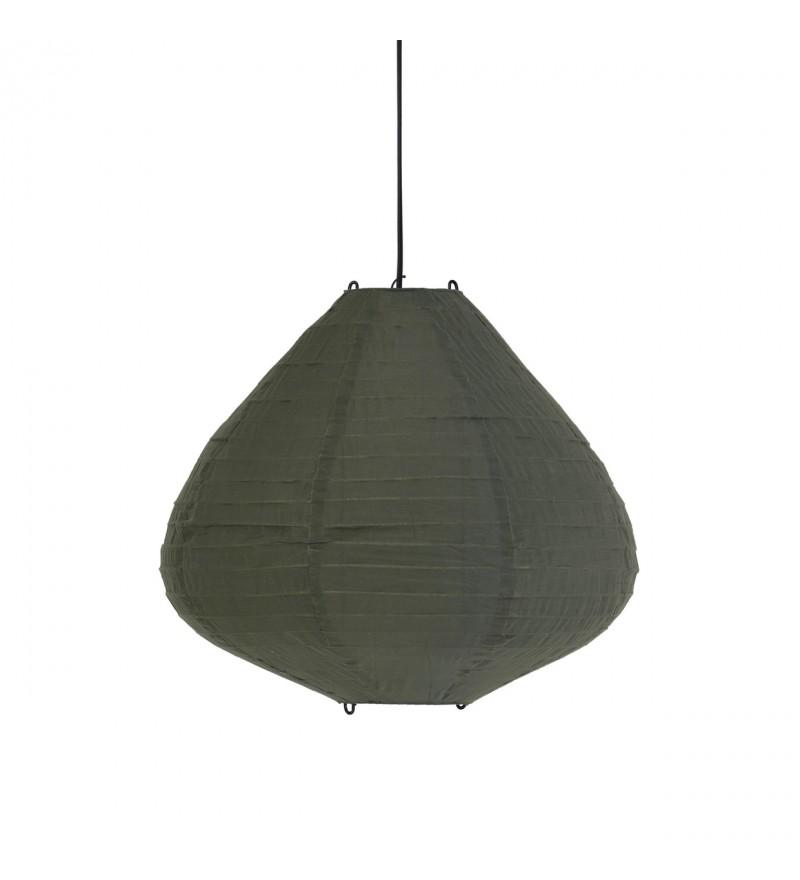 Lampa wisząca typu Lampion HK Living - 50 cm, kolor army green