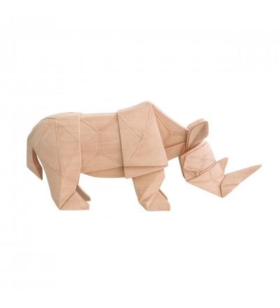 Dekoracja nosorożec HK Living - naturalne drewno