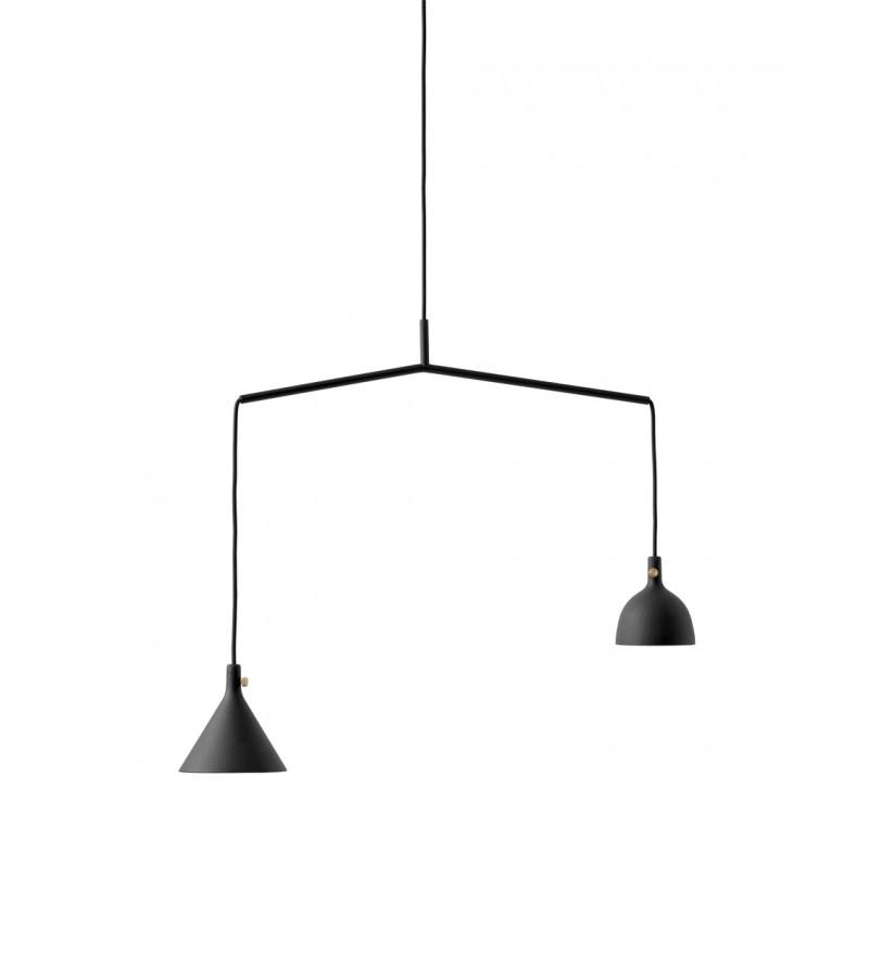 Lampa wisząca Cast 4 Menu - czarna