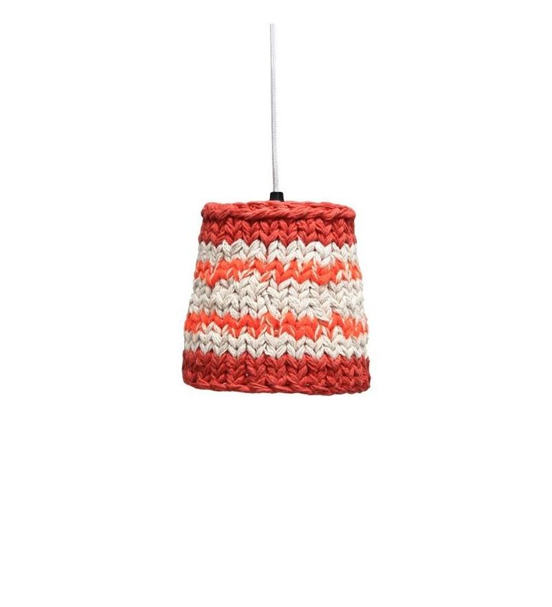 Lampa z dzierganym abażurem S HK Living - średnica 15 cm