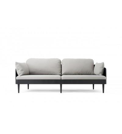 Sofa Septembre Menu - czarna / jasnoszara