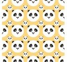 Tapeta PANDA KIDS ONWALL - COLOR BANANA