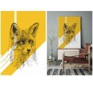 Obraz FOX ONWALL - COLOR GOLD, 50x70cm