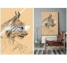 Grafika na płótnie Canvas LYNX ONWALL - COLOR 01, 50x70cm