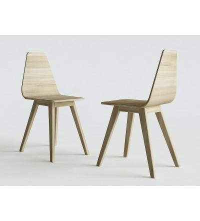 Krzesło FORM IWONA KOSICKA DESIGN - dębowe, 4 kolory