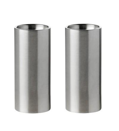Zestaw solniczki i pieprzniczki AJ Cylinda-line Stelton - stalowy