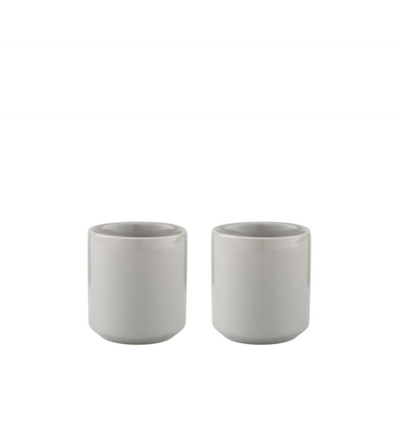 Kubki termiczne Core 0,2 L Stelton - 2 szt., jasnoszare