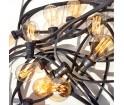 Girlanda żarówkowa ogrodowa Kolorowe Kable - czarna, 10m, 10 oprawek