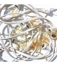 Girlanda żarówkowa ogrodowa Kolorowe Kable - biała, 10m, 10 oprawek