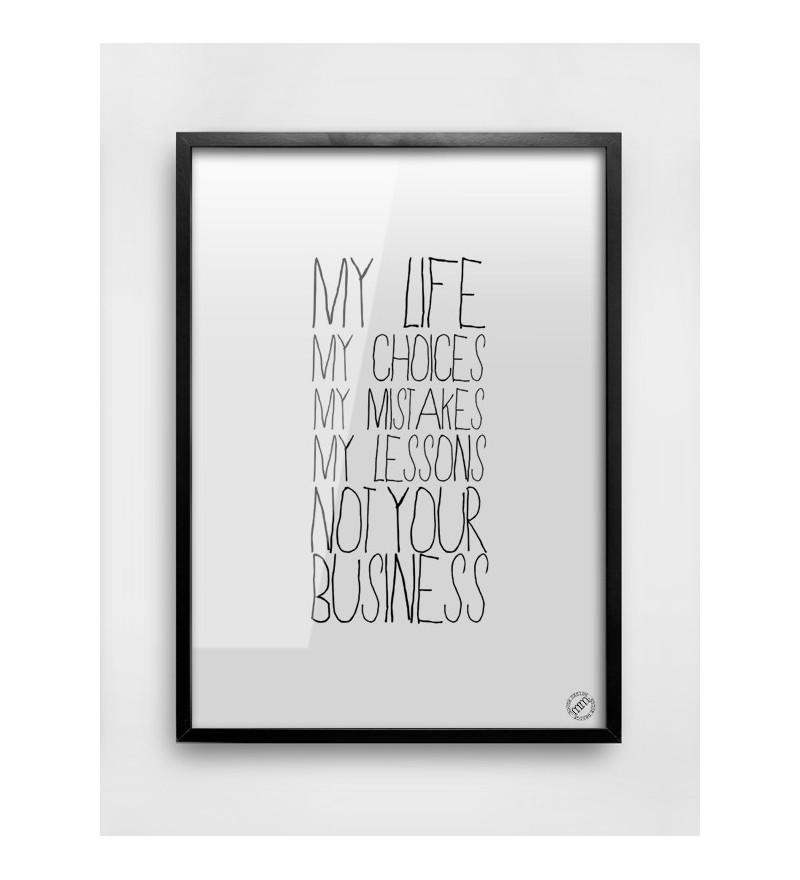 Plakat MY LIFE MM House Design - różne rozmiary