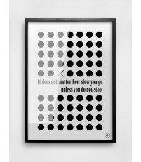 Plakat DON'T STOP MM House Design - różne rozmiary