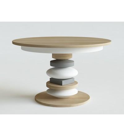 Stół okrągły rozkładany SZYCHA IWONA KOSICKA DESIGN - dębowy, 4 kolory, 2 wielkości