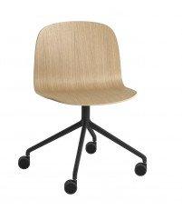 Krzesło obrotowe na kółkach VISU Wide Chair Muuto - różne kolory