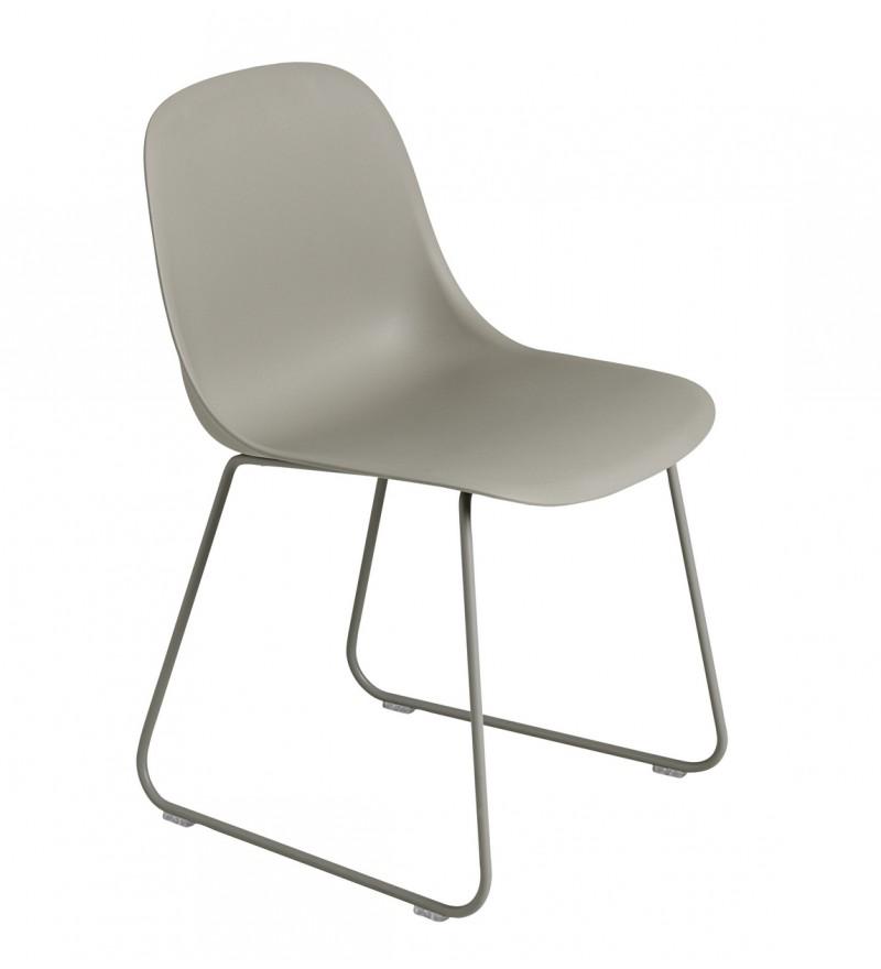 Krzesło na płozach Fiber Side Chair Sled Base Muuto - różne kolory