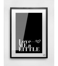 Plakat LOVE ME A LITTLE MM House Design - różne rozmiary