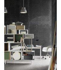 Krzesło tapicerowane obrotowe na kółkach Fiber Armchair Swivel w. castors Base Muuto - różne kolory