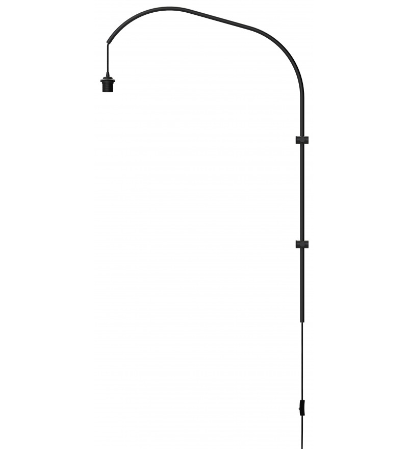 Pojedyncze ramię do lampy ściennej Willow single UMAGE (dawniej VITA Copenhagen) - czarne