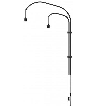 Podwójne ramię do lampy ściennej Willow double UMAGE (dawniej VITA Copenhagen) - czarne