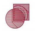 Stolik ISO B Petite Friture - bordowy