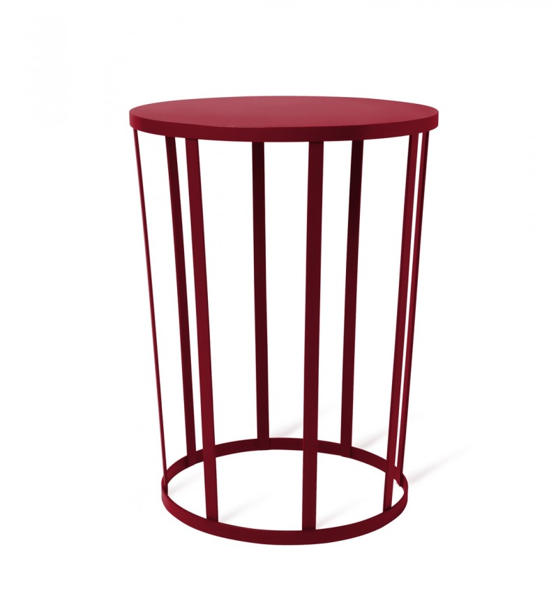 Stolik/stołek HOLLO Petite Friture - burgund