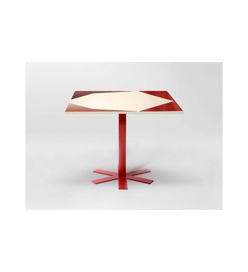 Stół PARROT Petite Friture - mały, wzór kremowo-różowy
