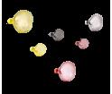 Wieszak BUBBLE Petite Friture - mały, żółty