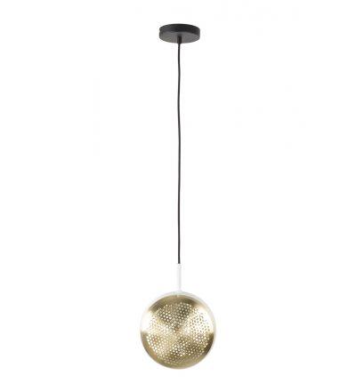 Lampa wisząca GRINGO FLAT ZUIVER - mosiężno - biała
