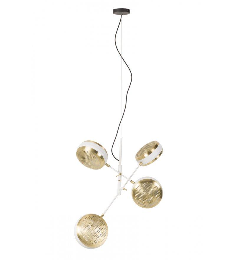 Lampa wisząca GRINGO MULTI ZUIVER - mosiężno - biała