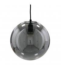 Wisząca lampa szklana z odblaskową powłoką HK Living - szara, średnica 30cm
